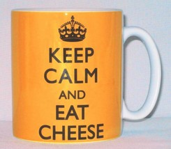 Keep Calm And Eat Cheese Mug Can Personalise Great Chef Maker Pizza Love... - $9.98