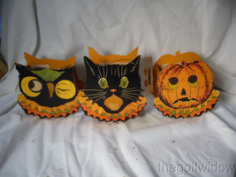 Bethany Lowe Halloween Sassy Cat, Owl and Pumpkin Small Buckets no. LC3671 image 2