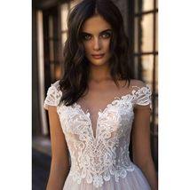 Elegant Sweetheart Off Shoulder Elegant Lace Appliques Wedding  Dress image 3