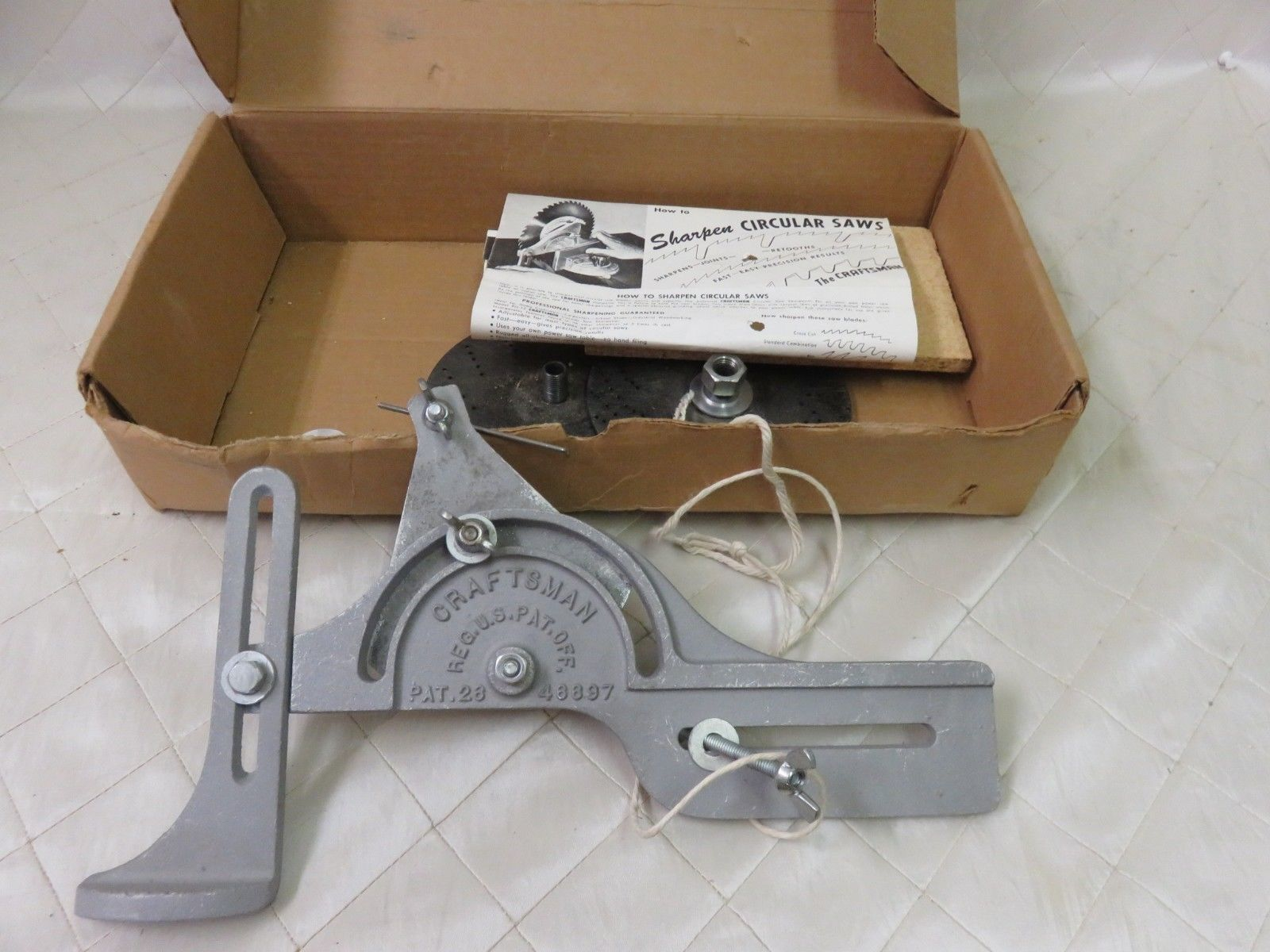 Vintage craftsman circular saw blade and 50 similar items vintage craftsman circular saw blade sharpener tool w instructions box greentooth Images