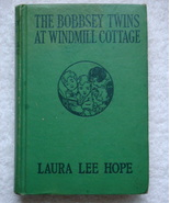 The Bobbsey Twins at Windmill Cottage 31 orange EP hc early 1940s printing - $14.75