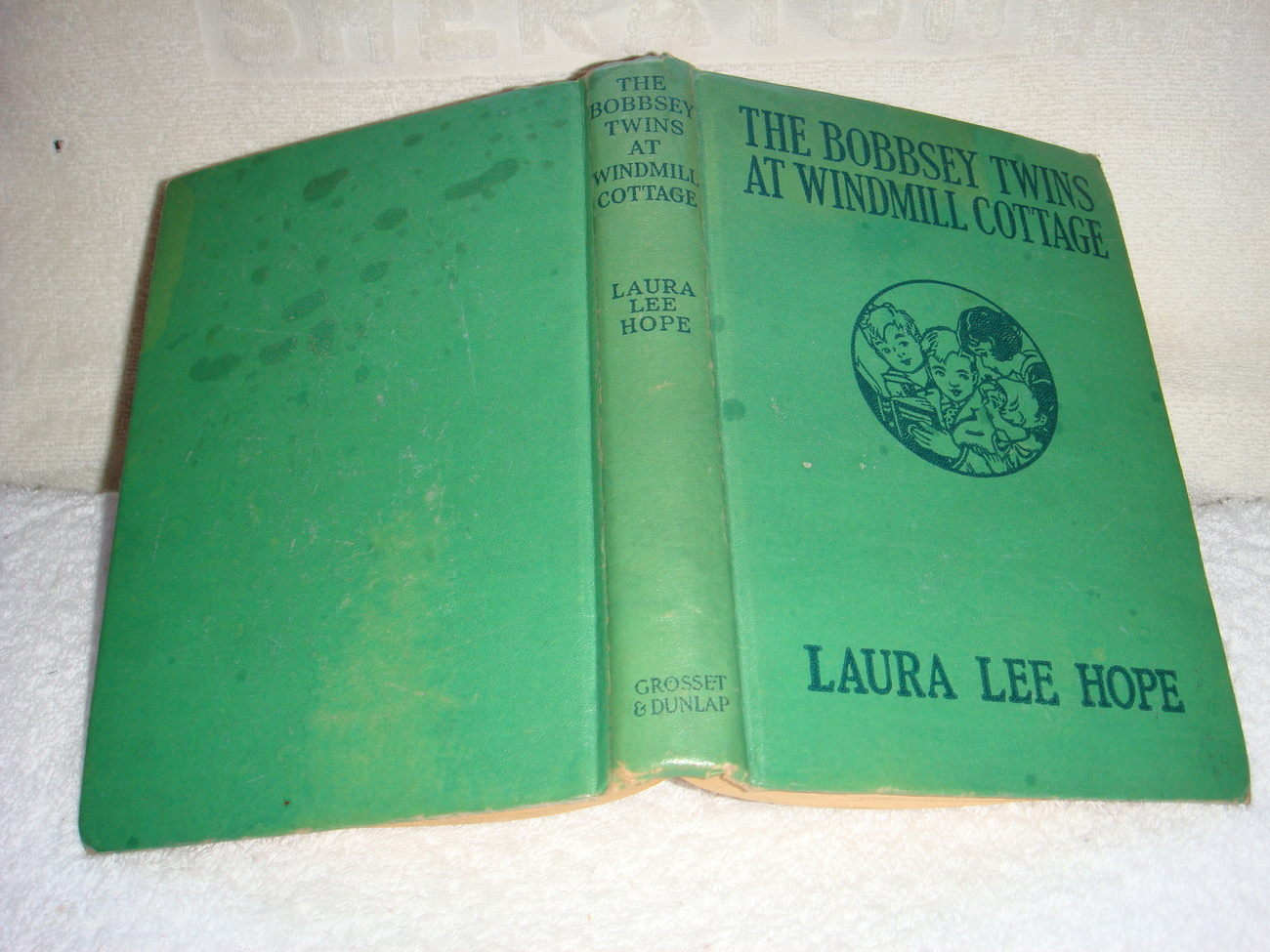 The Bobbsey Twins at Windmill Cottage 31 orange EP hc early 1940s printing