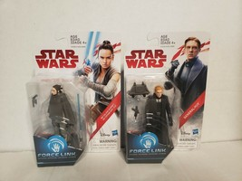 A3=Star Wars Force Link Set of 2 Figurines General Hux & REY Disney Hasb... - $14.70