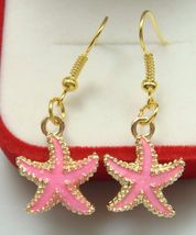 Pink Starfish Earrings *** 12272 >> Combined Shipping - $3.75