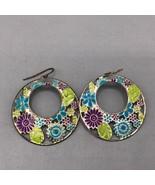 Colorful Flower Pierced Earrings - $8.90