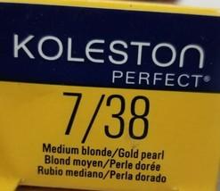 Wella Koleston Permanent Creme Hair Color (7/38 Medium Blonde/Gold Pearl) 2 oz  - $6.79