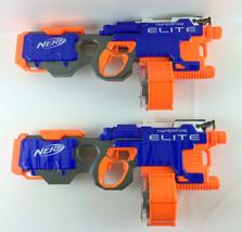 Lot of (2) Nerf N-Strike Elite Hyperfire Blaster w/25 Dart Ammo Drum - $89.99