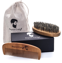 Gifts for Men Beard Brush Beard Comb Kit Hair Grooming Accessories w/ Tr... - $12.74