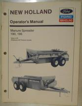 New Holland 190, 195 Manure Spreaders Operator's Manual - $7.20