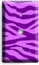 Purple Zebra Animal Prints Stripes Phone Telephone Wall Plates Cover Room Decor - $10.52