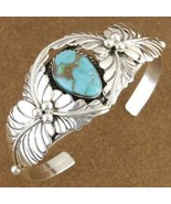 Lone Mountain Turquoise Sterling Silver Old Paw... - $247.57