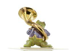 Hagen Renaker Miniature Frog Toadally Brass Band Tuba Ceramic Figurine image 6