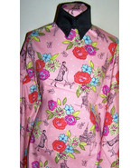 ONE OF A KIND PARIS IN THE SPRING ROSE STRETCH COTTON LYCRA TWILL FABRIC... - $30.00