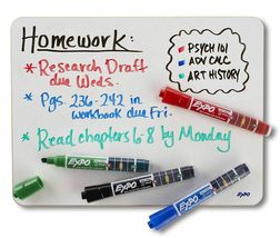 Expo Ink Indicator Dry Erase Markers, 4 Count Black, Blue, Red, Green Chisel Tip image 7