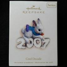 Hallmark Ornament Cool Decade #8 2007 Bunny Rabbit MIB - $9.99