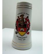 German Fest Milwaukee Commerative Ceramic Beer Stein 10 Year Anniversary... - $76.14