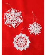 Handmade Crochet Snowflakes/Christmas Ornaments... - $6.50