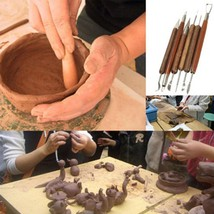New Pottery Ceramics Tools DIY Clay Sculpting Set Wax Carving Pottery To... - $9.99