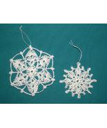 Handmade Crochet Snowflakes/Christmas Ornaments... - $5.95