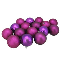 Northlight 16ct Light Pink Shatterproof 4-Finish Christmas Ball Ornament... - $13.60