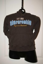 Abercrombie Brown And Blue Authentic Pullover Hoodie Sz S - $3.71