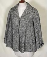 LAFAYETTE 148 New York Top Coat 8 Cotton Blend Salt Pepper Lined Two Poc... - $90.00