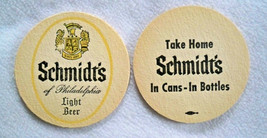 14 VTG SCHMIDT'S OF PHILADELPHIA LIGHT BEER COASTERS; NEW OLD STOCK; 2 ... - $6.41