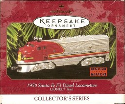 1997 Hallmark Santa Fe 1950 Diesel Locomotive Ornament - $19.99