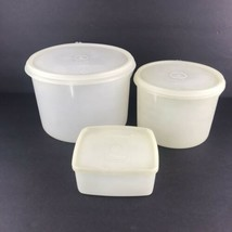 Set of 3 Vintage TUPPERWARE Canister Container Tupper Seal 264 265 311 1953 - $29.69