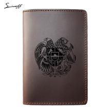 Travel Passport Cover Genuine Leather ID Wallet Organizer Card Holder Ca... - €15,77 EUR