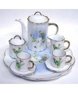 PORCELAIN BUNNY RABBIT TEA SET - $26.00
