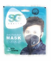Anti Pollution & Anti Bacterial Face Mask with Exhalation Valve - Black - $9.76
