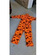 Saf T Bak Insulated Blaze Orange Camo Hunting Coveralls ZIP UP - PA,USA ... - $64.34