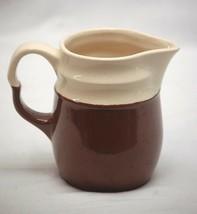 Old Vintage Stoneware Crock Art Pottery Creamer Pitcher Kitchen Tool Dec... - $14.84
