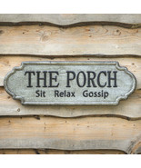 Country new metal PORCH sign / SIT RELAX GOSSIP - $59.99