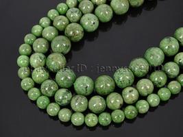 Natural Diopside Jasper Gemstone Round Spacer Beads 15.5'' 4mm 6mm 8mm 1... - $24.44+