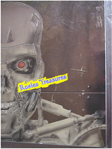 TERMINATOR T2 Cyborg Video Store Magazine w 3D Raised Silver Embossed Co... - $89.99