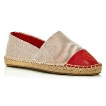Tory Burch Women Espadrille Flats Block Color Flat Size US 10.5 Rusty Knot - $125.06