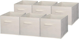 Sodynee Foldable Cloth Storage Cube Basket Bins Organizer Containers Dra... - £18.50 GBP+