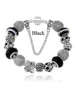 Silver plated butterfly charm beads fits european diy pulseras women pandora bracelets thumbtall