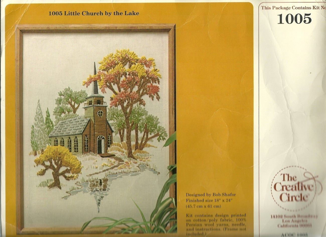 Embroidery Kit Creative Circle 1005 Little Church By The Lake Autumn Colors New - $9.99