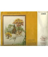 Embroidery Kit Creative Circle No. 1005 Church By Lake Autumn New - $12.98