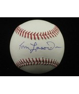 TOMMY LASORDA Single Signed OML Baseball HOF Dodgers - $97.95