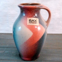 """Bay Keramik Hand-Painted Vase Made In West Germany C.1950'S-60'S abt 5 3/4"""" tall image 8"""