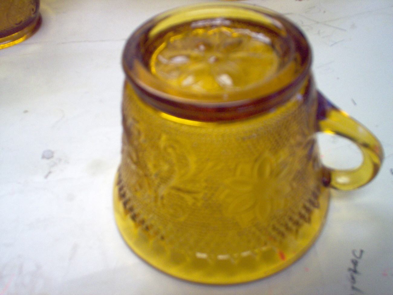 INDIANA GLASS AMBER TIARA [6]  PUNCH /COFFEECUPS