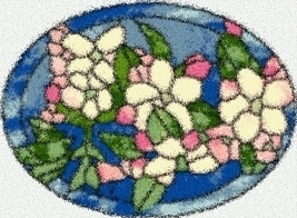 Latch Hook Rug Pattern Chart: Apple Blossoms - EMAIL2u - $5.75