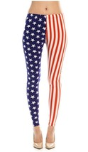 Women's American Flag Ankle Jeggings Leggings Patriotic Pants (a) - $89.09