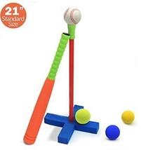 Kids Soft Foam T-Ball Baseball Set 4 Different Colored Balls, Carry Bag - $48.61