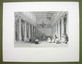 BETHLEHEM Chapel Church of Nativity Middle East - 1842 Engraving Print - $11.10