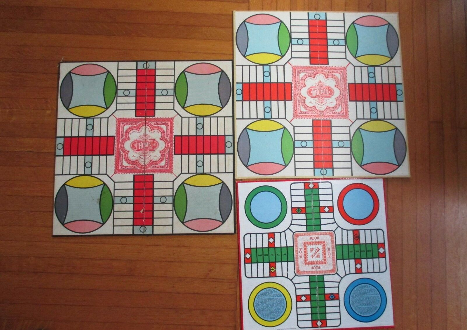 One Vintage Whitman Pachisi Game, incomplete + Two Selchow & Righter Boards